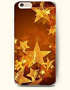 OOFIT New Apple iPhone 6 ( 4.7 Inches) Hard Case Cover - Golden Star Ornament
