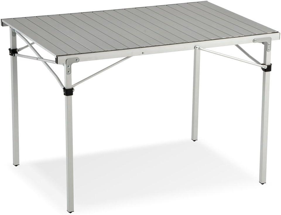 Mesa enrollable para camping y jardín, 110 cm