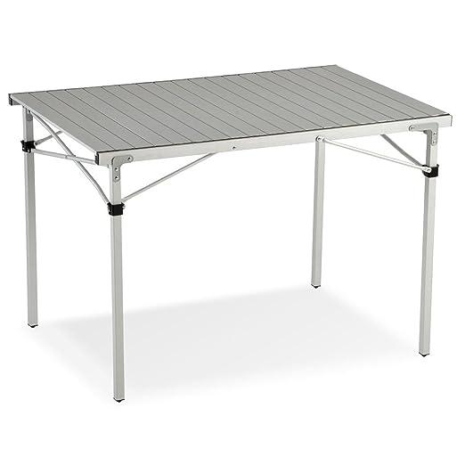 Mesa enrollable para camping y jardín, 110 cm: Amazon.es: Hogar