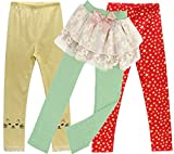 Beloved Lucia Girls Spring Floral Cotton Leggings Pants Mix22 4/5