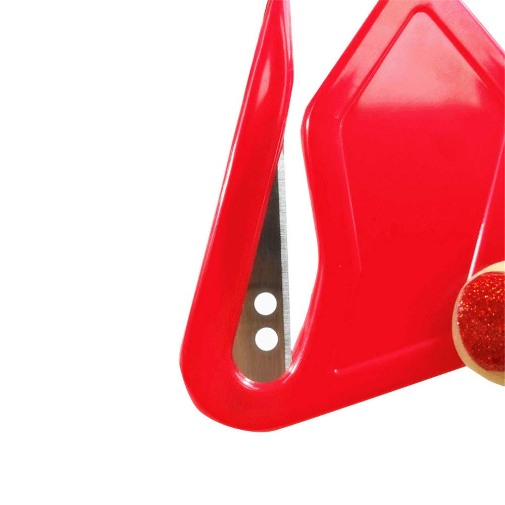 papel de regalo de Navidad amarillo herramienta de envoltorio pl/ástico 7.5/×4.5cm 5 piezas//juego de herramientas de corte de papel de regalo para oficina Cortador de papel de regalo Winkey