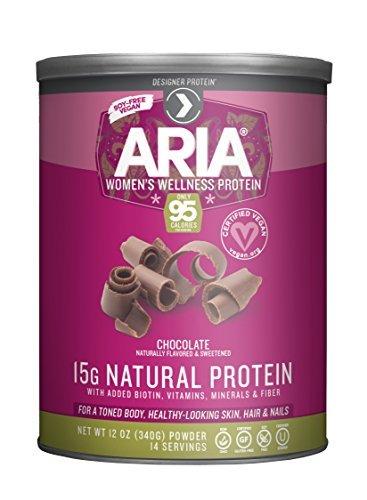 Aria Womens Protein Chocolate - Designer Protein Vegan Aria Women's Sports Nutrional Supplement, Chocolate, 12 Ounce by Designer Protein