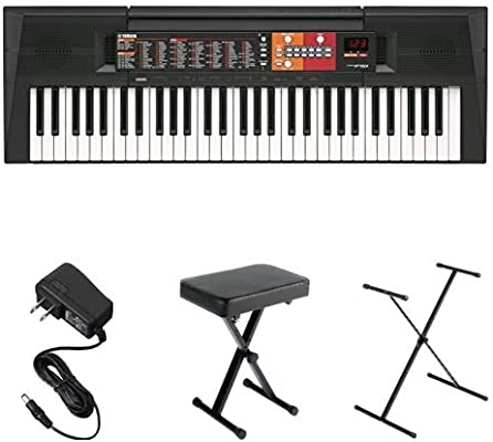Yamaha Psr F51 Portable Keyboard Bundle With Stand Bench And Power Adapter