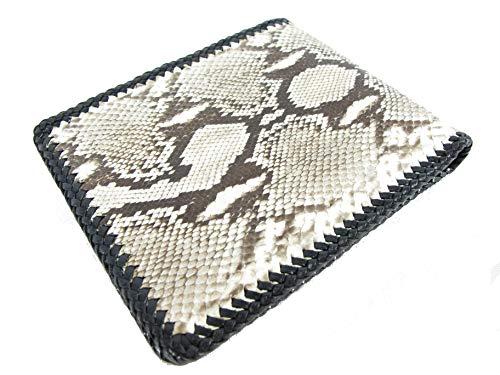 (PELGIO Genuine Python Snake Skin Leather Bifold Handmade Wallet (Reticulated Python))