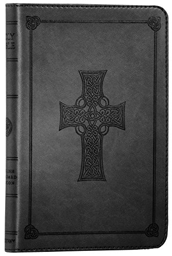 ESV Compact Bible, TruTone, Black, Celtic Cross Design (Esv Celtic Bible Cross)