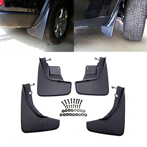 Micropower Black Front Rear Molded Splash Guards Mud Flaps