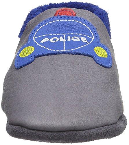 Pololo Polizei, Zapatillas Bajas para Niños, Gris (Granite), 44 EU