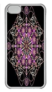 Case Cover for iPhone 5C Transparent Hard Plastic Skin Shell for iPhone 5C with Vintage Art