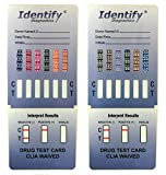 10 Pack Identify Diagnostics 12 Panel Drug Test Dip with Low Opiates Cutoff - Testing Instantly for 12 Drugs: THC, COC, MOP, OXY, MDMA, BUP, AMP, BAR, BZO, MET, MTD, PCP #ID-CP12-DIP