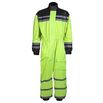 Texpeed Hi-Vis Elasticated Waterproof Over Suit: Amazon.es ...