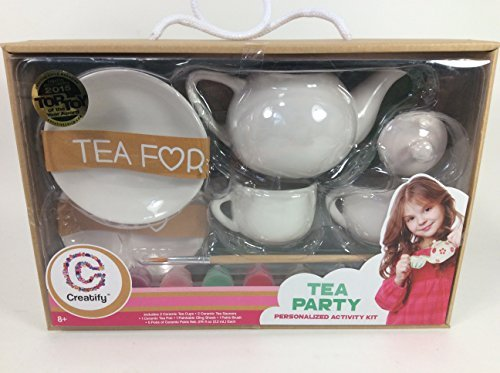 Paint Your own Ceramic Tea Party Set -