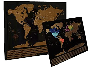 Amazon discover jar scratch off world map includes free discover jar scratch off world map includes free scratch tool vibrant colors glossy gumiabroncs Image collections