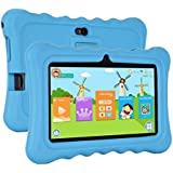 Xgody T702 7 Quad Core Android Kids Tablet PC 8GB ROM with Wifi and Camera and Games HD Kids Edition and Kid Mode Pre-Installed Support Bluetooth Micro USB SD Card Slot with Blue Silicone Case