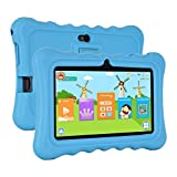 Xgody T702 7'' Quad Core Android Kids Tablet PC 8GB ROM with Wifi and Camera and Games HD Kids Edition and Kid Mode Pre-Installed Support Bluetooth Micro USB SD Card Slot with Blue Silicone Case