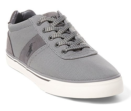 Polo Ralph Lauren Men's Hanford Fashion Sneaker, Grey Oval Mesh, 10.5 D US