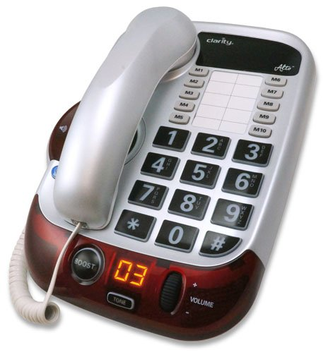 Clarity Alto 54005.001 Digital Extra Loud Big Button (Amplified Corded Big Button Phone)