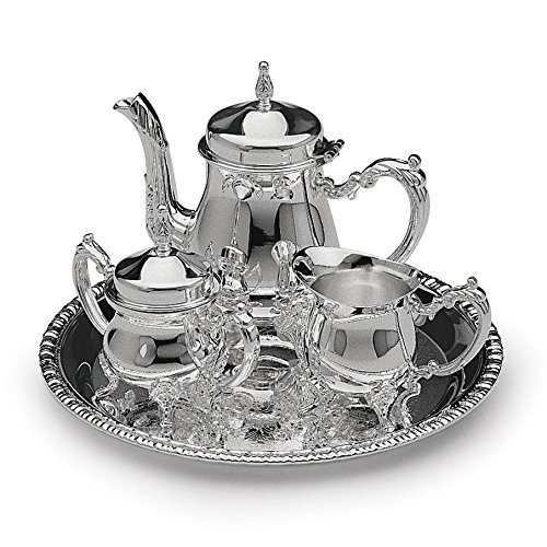 4 pc Silver Plated Mini Coffee Set
