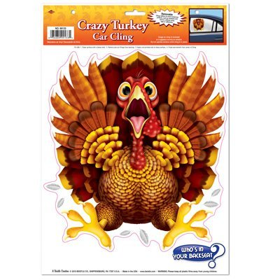 Crazy Turkey Car Cling Party Accessory (1 count) (1/Sh)