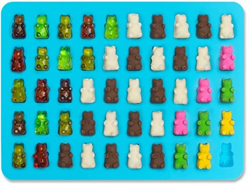 Wedding Favor Maker /& Baby Shower Supplies Novelty // Silly Shapes Baking 50 Cavity Lucentee Gummy Bears Molds for Hard Candy /& Chocolate Making- Silicone Soap and Ice Cube Trays- Party Buffet