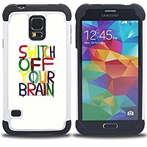 - brain motivational relax meditation/ H??brido 3in1 Deluxe Impreso duro Soft Alto Impacto caja de la armadura Defender - SHIMIN CAO - For Samsung Galaxy S5 I9600 G9009 G9008V