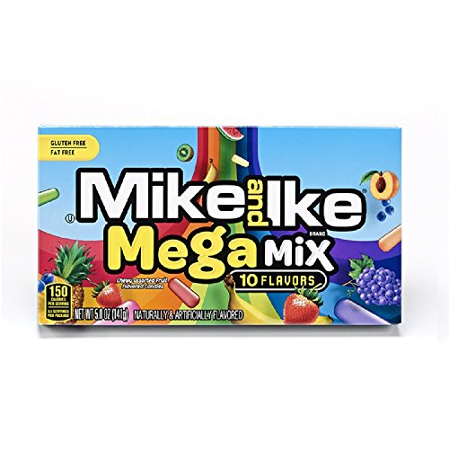 Mike and Ike Megamix 10 Flavors 5-Ounce Theater Box 12 Count