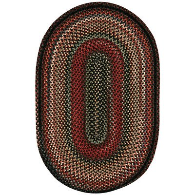 Concentric Rectangle Braided Rugs (Portland Coal Rug Rug Size: Concentric Square 5'6