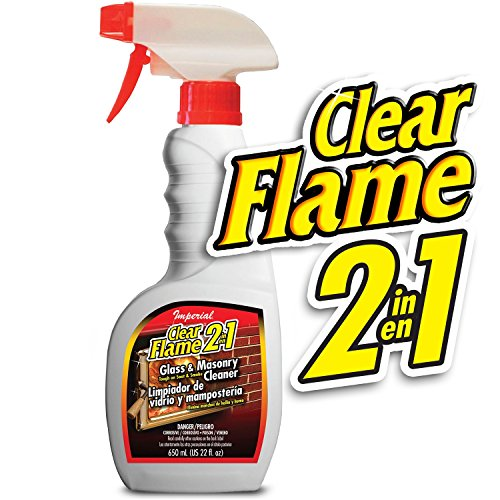 Imperial KK0047 Clear Flame 2 In 1 Glass and Masonry Cleaner, 16 -