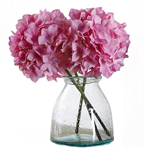 Helen Ou@ 4 Pcs Artificial Hydrangea Flowers Great for Wedding and Home Decoration (Hydrangea Wedding Decorations)