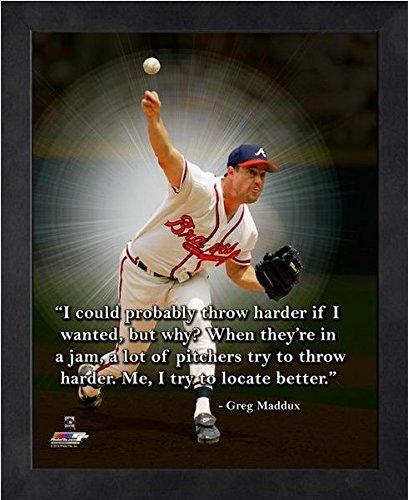 Greg Maddux Atlanta Braves Pro Quotes Photo (Size: 12