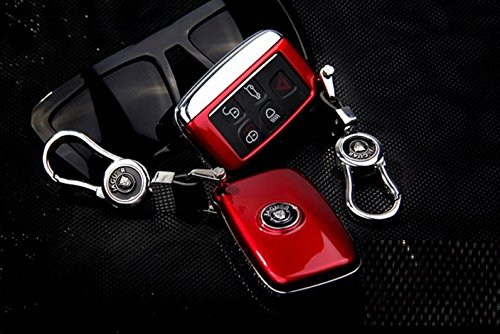 Eppar New Key Box Cover With Key Chain for Jaguar XF 2012-2015 (Red) by Eppar