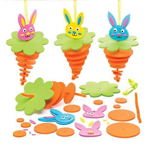 (Baker Ross Bunny Stacking Decoration Kits (Pack of 6) Easter Crafts for Kids to Assemble and Display)
