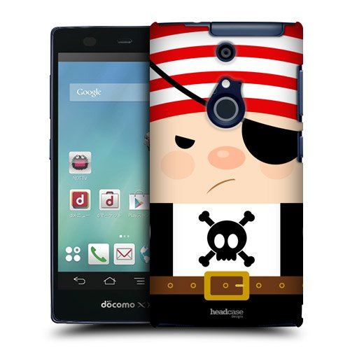 Head Case Designs Bill The Bully Little Pirate Protective Snap-on Hard Back Case Cover for Fujitsu Arrows NX F-01F LTE