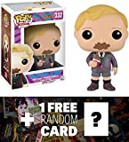 Augustus Gloop: Funko POP! x Willy Wonka & The Chocolate Factory Vinyl Figure + 1 FREE Classic Movie Trading Card Bundle (102506)