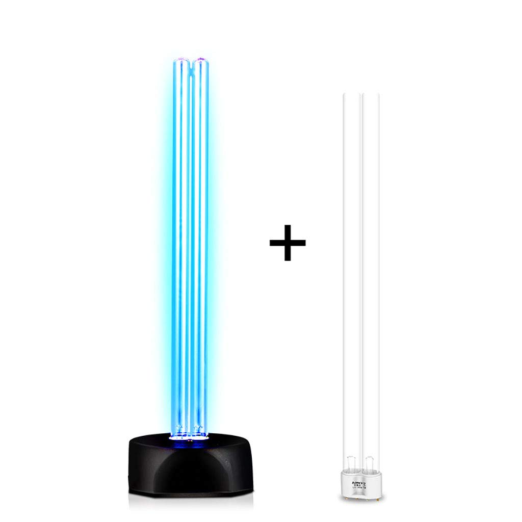 UV Ozone Sterilization Lamp Ultraviolet Disinfection Germicidal Lights for Car Household Refrigerator Toilet Pet Area Ant-Bacterial Rate 99.9% (Color : Double Tube)