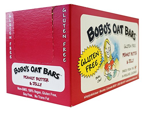 Bobo's Oat Bars All Natural, Gluten Free Peanut Butter and Jelly, 3 oz Bars, Pack of 12