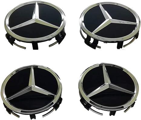 Handypart New Set 4 Pieces for Mercedes Benz Wheel Center Caps Hub Cap, 75mm /2.95