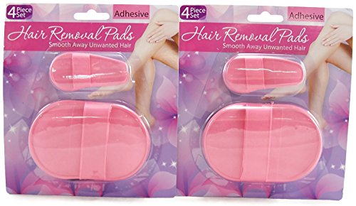 Hair Removal Pads 4 Piece Set (2-Pack)