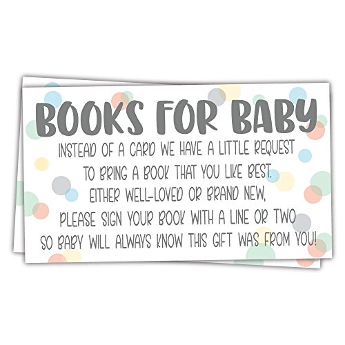 - 50 Sweet Dot Books for Baby Shower Request Cards - Invitation Inserts - Gender Neutral Baby Shower