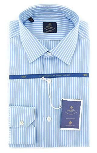 new-luigi-borrelli-light-blue-striped-extra-slim-shirt