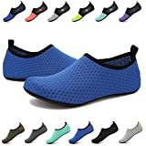 EASTSURE Snorkeling Shoes Water Sport Shoes Aqua Mesh Socks Men Women Beach Swim Surf Yoga Sapphire Blue 40-41