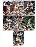 2017 Topps San Francisco Giants Complete Master Team Set of 26 Cards (Series 1, 2, Update): Gregor Blanco(#47), Madison Bumgarner(#65), Brandon Crawford(#106), Angel Pagan(#112), Matt Moore(#179), Johnny Cueto(#199), Denard Span(#216), San Francisco Giants(#235), Hunter Strickland(#246), Brandon Belt(#347), Jarrett Parker(#410), Mark Melancon(#429), Jeff Samardzija(#463), Kelby Tomlinson(#510), Eduardo Nunez(#532), Ty Blach(#625), Hunter Pence(#633), Joe Panik(#673), plus more