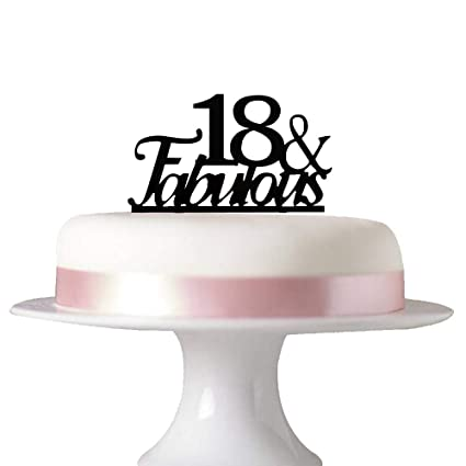 Amazon 18 Fabulous Cake Topper For 18th Birthday Party