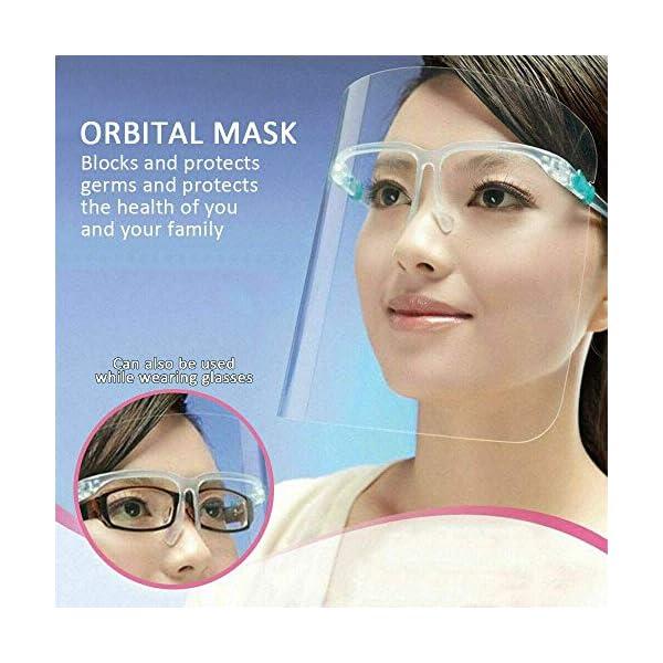 Protector Facial de Seguridad Reutilizable con Gafas de Visera, Capa Transparente antivaho para Proteger los Ojos de Las Salpicaduras para Mujeres, Hombres, niños y niños (10 Unidades) 6