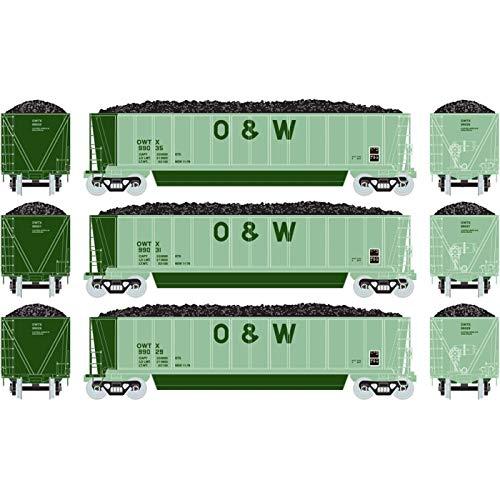 - Athearn HO RTR Bathtub Gondola w Coal Load O&W #1 (3)