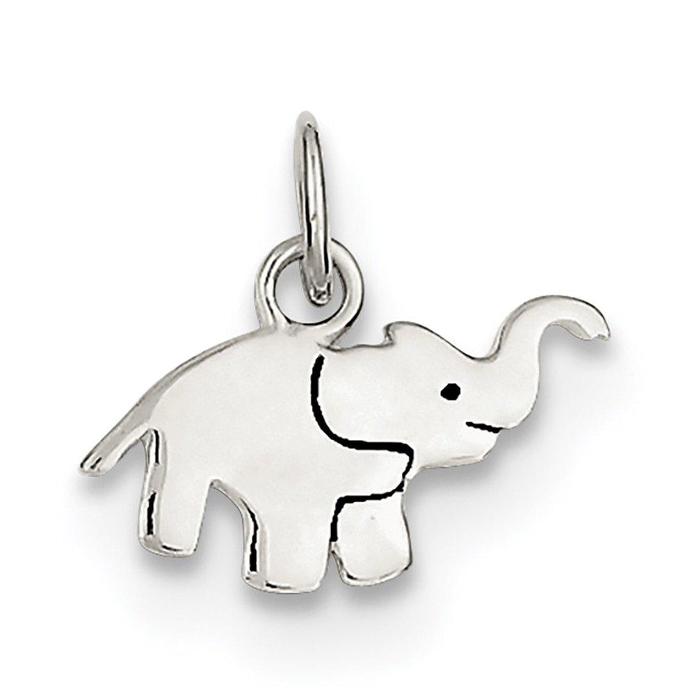 Lex /& Lu Sterling Silver Enameled Elephant Charm LAL106339