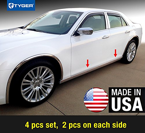 Made in USA Works with 2008-2017 Chrysler Town /& Country 8PC Stainless Steel Pillar Post