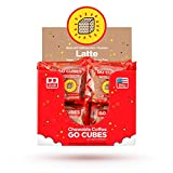 GO CUBES Energy Chews, Latte Coffee Flavored, 4 count chews (20 Pack)