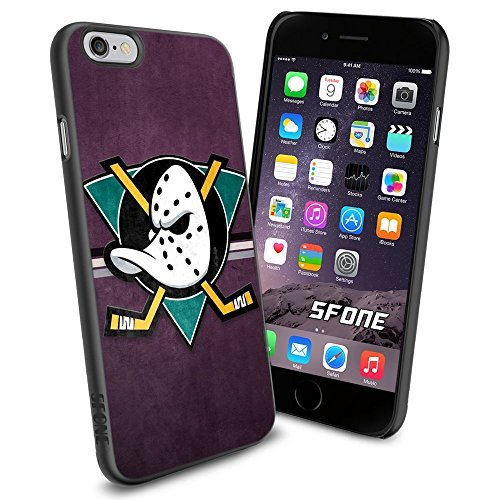 Ducks Protector Case (Anaheim Ducks NHL, WADE1381 Hockey iPhone 6 4.7 inch Case Protection Black Rubber Cover Protector)