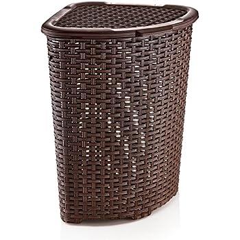 Amazon.com: Rattan (Wicker Style) Corner Laundry Hamper 1 ...