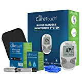 Care Touch Diabetes Blood Sugar Kit - Care Touch Blood Glucose Meter, 100 Blood Test Strips, 1 Lancing Device, 30 Gauge Lancets-100 Count, Control Solution and Carrying Case